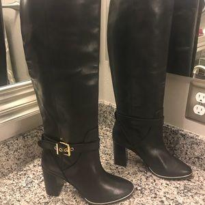 New Ted Baker Niida Black Leather Knee Boots 9